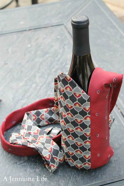 Necktie Wine Tote Finished