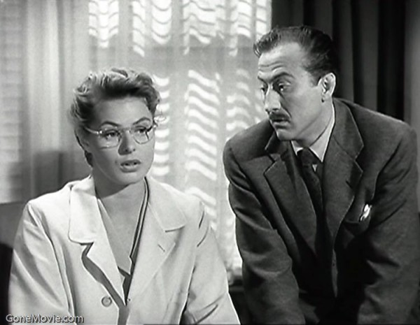 Ingrid Bergman (Dr. Constance Petersen) and John Emery (Dr. Fleurot).