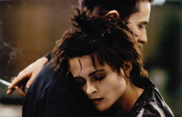 FIGHT CLUB, Helena Bonham Carter (head on shoulder), Edward Norton, 1999, TM & © 20th Century Fox Film Corp.